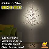 Strong Camel 6ft Star Light Tree 240 LED Light Warm Light String Party Christmas Decoration New