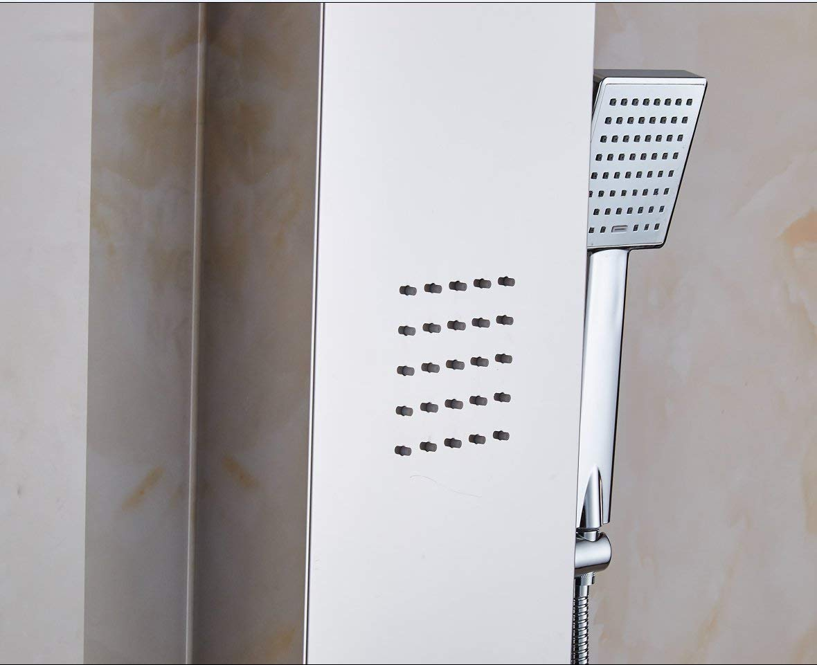 XZST 52.87 Inch SUS 304 Stainless Steel Super Large Rainfall Shower Panel Rain Massage System with Jets /& Superior Hand Shower Waterfall Shower Tower
