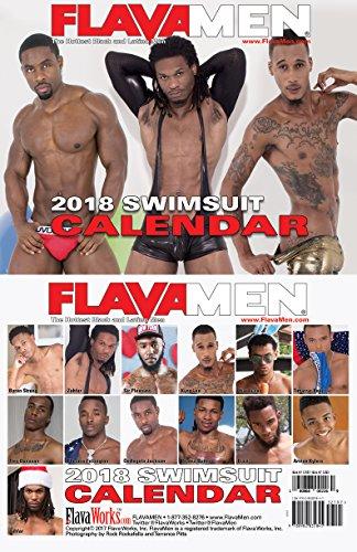 FlavaMen 2018 Swimsuit Calendar Black Men Latin Men Calendar