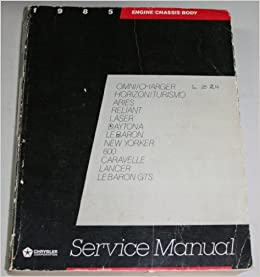 Pleasing Chrysler Corporation Service Manual 1985 Front Wheel Drive Passenger Wiring Cloud Hisonuggs Outletorg