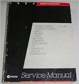Groovy Chrysler Corporation Service Manual 1985 Front Wheel Drive Passenger Wiring Cloud Strefoxcilixyz