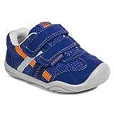 pediped Gehrig Grip-N-Go Sneaker (Toddler),Blue/Orange,23 EU (7 M US Toddler)