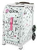 ZUCA Bag SK8 Insert & White Frame w/ Flashing Wheels
