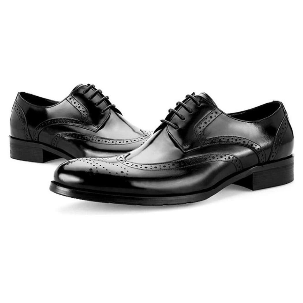 Zxcvb Herren Leder Wildleder Retro Brock Carved England Trend Schuhe Herren Freizeitschuhe