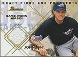 2001 Bowman Gary Johnson Angels Game Used Jersey Insert Baseball Card #BDPR-GJ