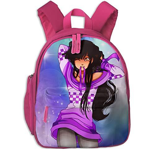 TiaKudy Aphmau Gaming Kid s School Backpack School Bag Student Stylish  Canvas Book Bag Rucksack Daypack Pink 88a52940d6270
