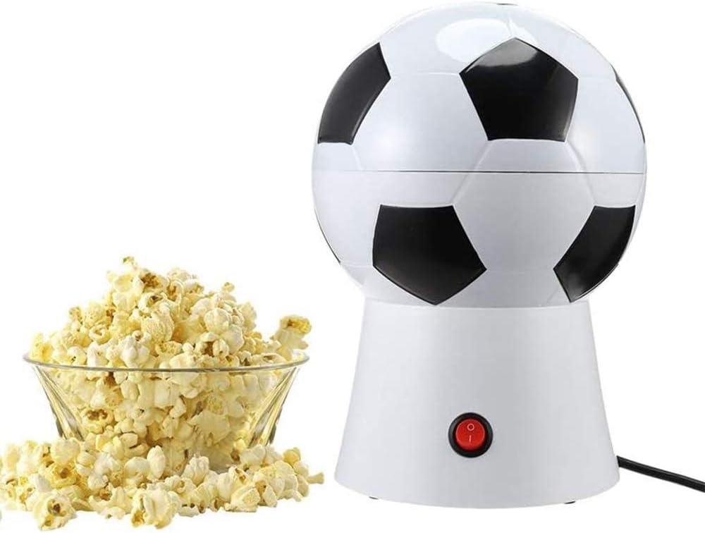 xxz Air Popper Popcorn Maker, Forma de balón de fútbol con Tapa extraíble Máquina eléctrica Aire Caliente Estallido rápido, Adecuado para Uso doméstico de Cocina 220V: Amazon.es