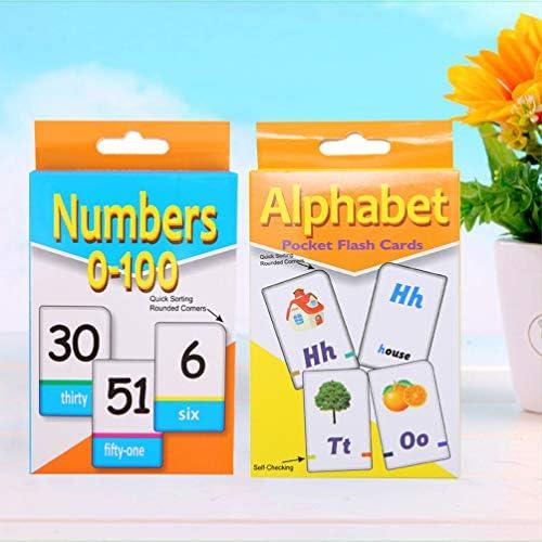 Toyvian 2 Packungen Lernkarten Alphabet Lernkarten für Kleinkinder Frühes Lernen Kindergartenkinder