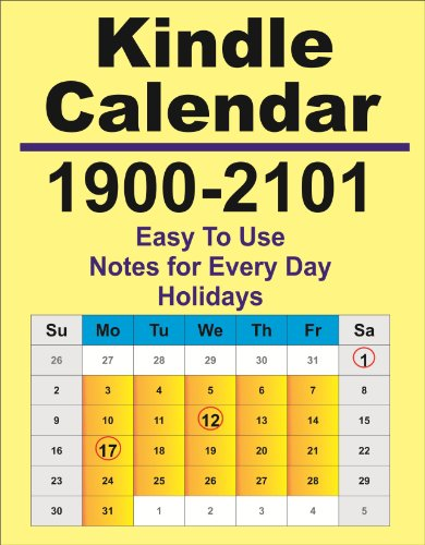 2010 Planner Calendar (1900-2101 Kindle Calendar and Day Planner (Holidays and Notes))
