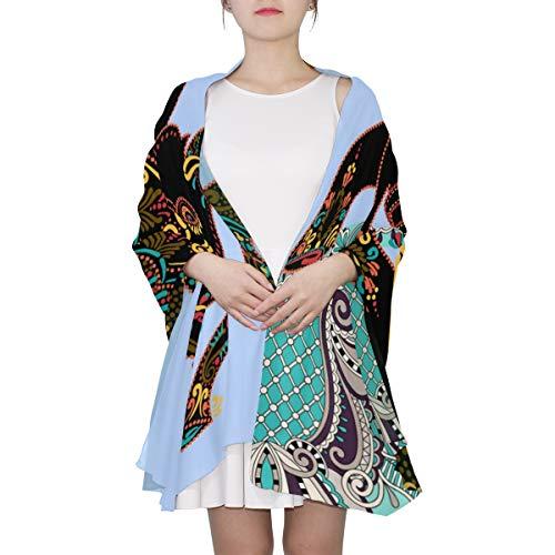 AHOMY Fashion Scarf for Women Africa Art Elephant Evening Shawl Wrap Scarf for Wedding Party Dress by AHOMY