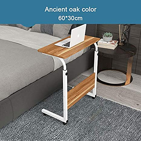 Amazon.com: Mobile Laptop Computer Desk Cart,Portable and Adjustable Laptop Computer Table/Stand with Ventilation Holes and Mouse Pad in ...
