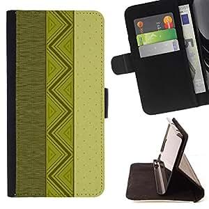 Kingstore / - Tres diseños verticales en verde - Samsung Galaxy A3