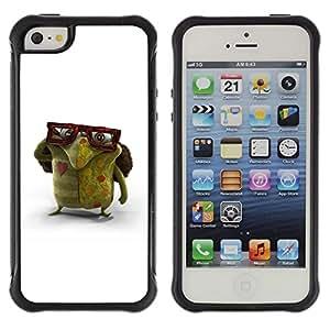 Suave TPU GEL Carcasa Funda Silicona Blando Estuche Caso de protección (para) Apple Iphone 5 / 5S / CECELL Phone case / / Glasses Green Monster Love Creature Art /