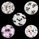 50 Wonderfully Colorful Buttons 15mm (0.6'') Each with Exclusive Shizaru Designs Gift Bag