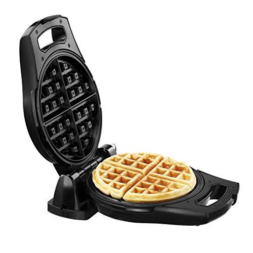 vonshef flip 4 slice rotating round belgian waffle maker. Black Bedroom Furniture Sets. Home Design Ideas