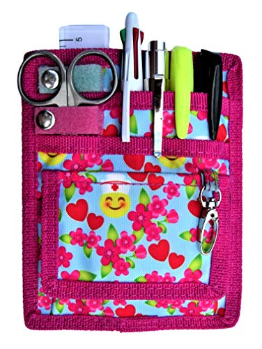6 Piece Protective Lab Coat Pocket Organizer Kit Has Colorful Smiley Pattern! Attractive Yet Durable - Made of Super Strong Denier Polyester. The Perfect Gift for Nurses, Students & You!