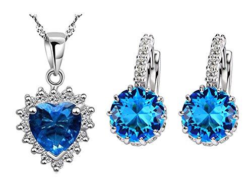 Dillian Womens Ocean Star Jewelry Sets,Blue,with Earring