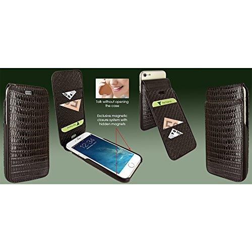 Piel Frama U7 60LAM Etui souple en cuir pour iPhone 7 Lézard Marron