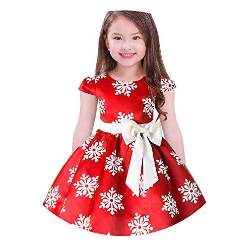 Baby Girls 3D Flower Silk Princess Dress for Wedding Party Bow Tutu Kids Dresses for Girls,Red,10