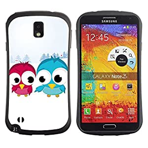Suave TPU GEL Carcasa Funda Silicona Blando Estuche Caso de protección (para) Samsung Note 3 / CECELL Phone case / / Blue Red Bird Art Snow Couple Love Romantic /