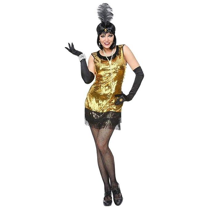WIDMANN 08629 para mujer Disfraz 20 años Charleston, mujer, oro ...