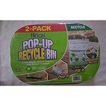 Amazon Com Trashco Flings Bins Pop Up Recycle Bins 10