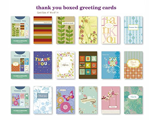 Value Pack Assorted Thank You Appreciation Cards Bulk Greeting Cards Box Set 30 Pack Assortment