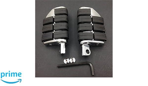 HTTMT Fit 1-1.25 1 1//4 Engine Guard U-Clamp Foot pegs Footrest For Harley Bad Boy Fxstsb Heritage Softail FLST Black