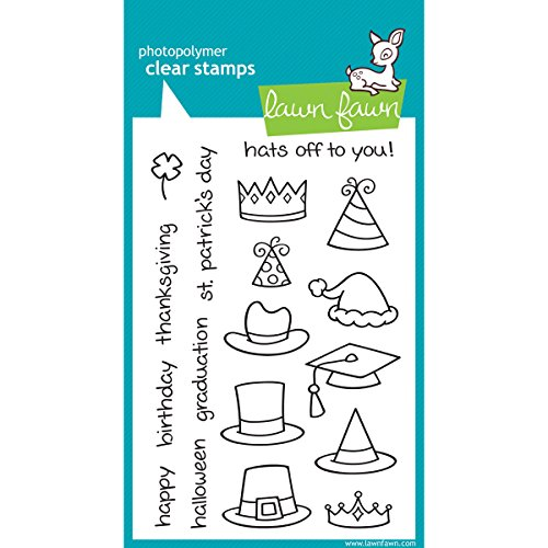 Lawn Fawn Clear Stamp - Hats Off To You (LF313) (Stamps Acrylic Lawn Fawn)