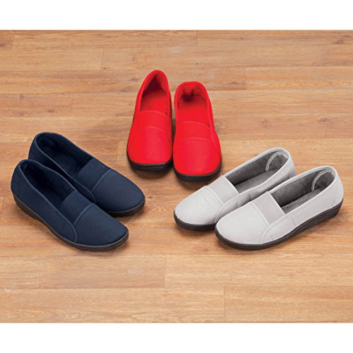 Fit Comfort Elastic Slip Ons Gray Comfort Elastic Slip Ons Fit AqwrAXH