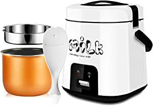 Rice Cooker Smart mini rice cooker, small multi-function rice cooker, 1.8L, suitable for 1-3 people-for students, office workers, baby food supplement, travel portable rice cooker and warmer