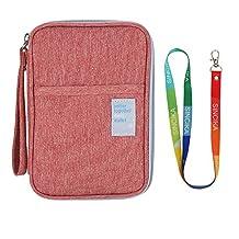 Passport Wallet SINCIKA Waterproof Family Journey Case Credit Card Holder Multi-Purpose Travel Organizer Portable Casual Coin Purses & Pouches, Orange