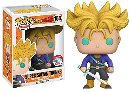 Funko POP! Super Saiyan Trunks Dragonball Z DBZ #155 NYCC Limited