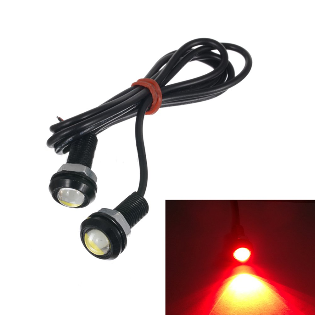 EMVANV 1 Pair 18MM 9w Eagle Eye Light, Waterproof LED Lamp,Car DRL Fog Daytime Backup Reverse Turn Lamp,Parking Signal Running Bulb (blue)