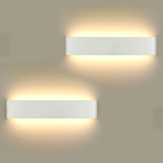 Lámpara de Pared LED 2 unidades, 16 W Lámpara de Pared Moderna Para Interior Para Lámpara de Baño, Salón, Dormitorio, Escalera, Pasillo, Iluminación de Pared, Blanco Cálido 3000K: Amazon.es: Iluminación