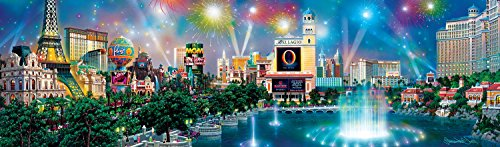 Las Vegas Panoramic Puzzle (Buffalo Games - Panoramic - Alexander Chen - Las Vegas Twilight - 750 Piece Jigsaw Puzzle)