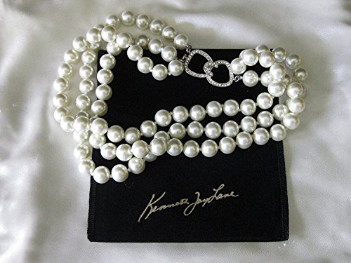 Kenneth Jay Lane Jewelry Barbara Bush 3 Strand Simulated White Pearl Necklace