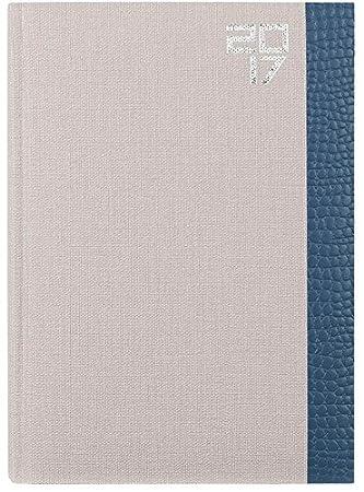 Lediberg 936962 - Agenda semana vista, 17.2 x 24 cm, color beige y azul