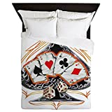 Queen Duvet Cover Four of a Kind Poker Spade
