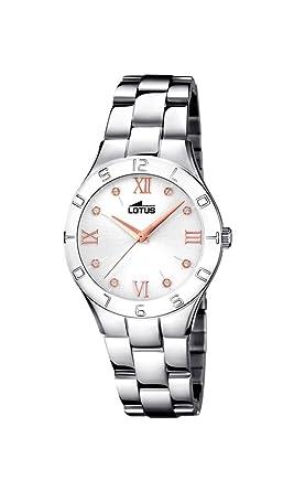 fdf5ead19de8 Lotus Watches Reloj Análogo clásico para Mujer de Cuarzo con Correa en Acero  Inoxidable 15895 3  Amazon.es  Relojes