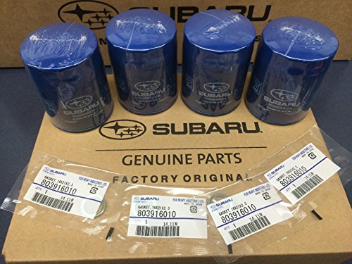 (OEM Subaru Engine Oil Filter & Gasket 15208AA15A Geniuine Impreza Legacy Forester 4 PACK)