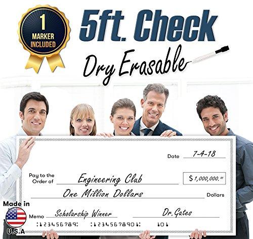 Giant Fake Check for Endowment Award - 30