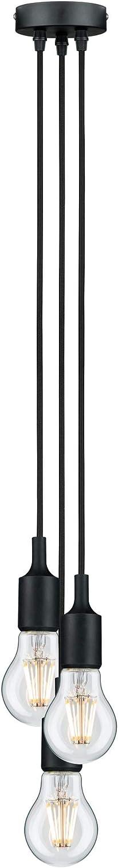 Paulmann 50342 Pendel E27 2m Stoffkabel max 1x20W Schwarz 230V Silikon