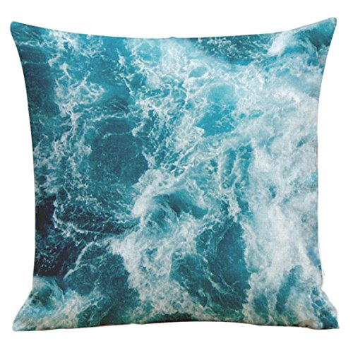 Iuhan® Fashion Fresh Ocean Letter Printing Dyeing Sofa Bed Home Decor Pillow Case Cushion Cover (F) (10 Letter Halloween Words)