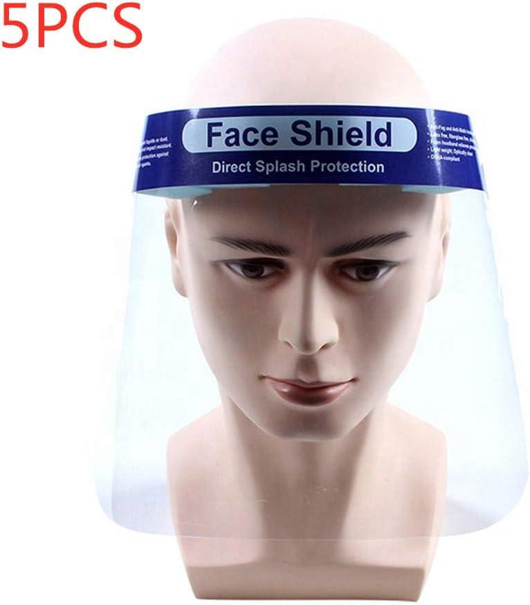 JIALONGZI - Máscara de saliva personal, antipolvo, máscara de seguridad transparente, saliva salpicaduras, máscara contra salpicaduras, máscara de sombrero, equipo de protección facial