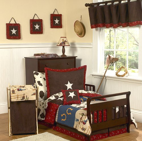 Sweet Jojo Designs 5-Piece Wild West Cowboy Western Toddler Bedding set