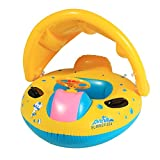 Arshiner Babies Inflatable Swimming Pool Boat / Fish Float, Yellow