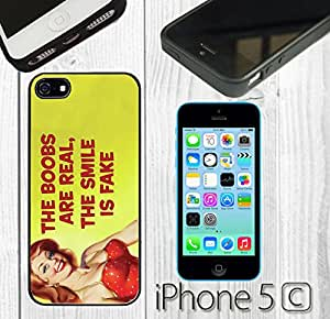 Funny Vintage Quote Cute Custom made Case/Cover/Skin FOR iPhone 5C Color -Black- Rubber Case
