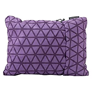 Therm-a-Rest Compressible Travel Pillow for Camping, Backpacking, Airplanes and Road Trips, Amethyst, Medium - 14 x 18 Inches