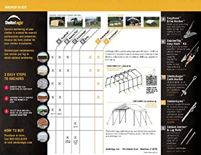 ShelterLogic Round Style Auto Shelter, 1-3/8-Inch 5-Rib Frame, 10 x20 x8-Feet, Sandstone